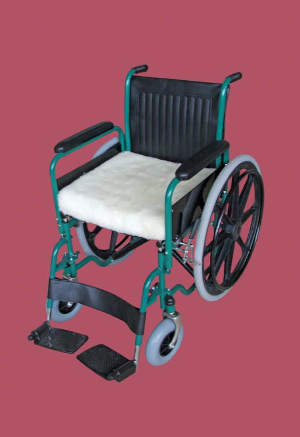 Wheelchair cushion luxury fleece 406mm 16 wide the Luxury wheelchairs