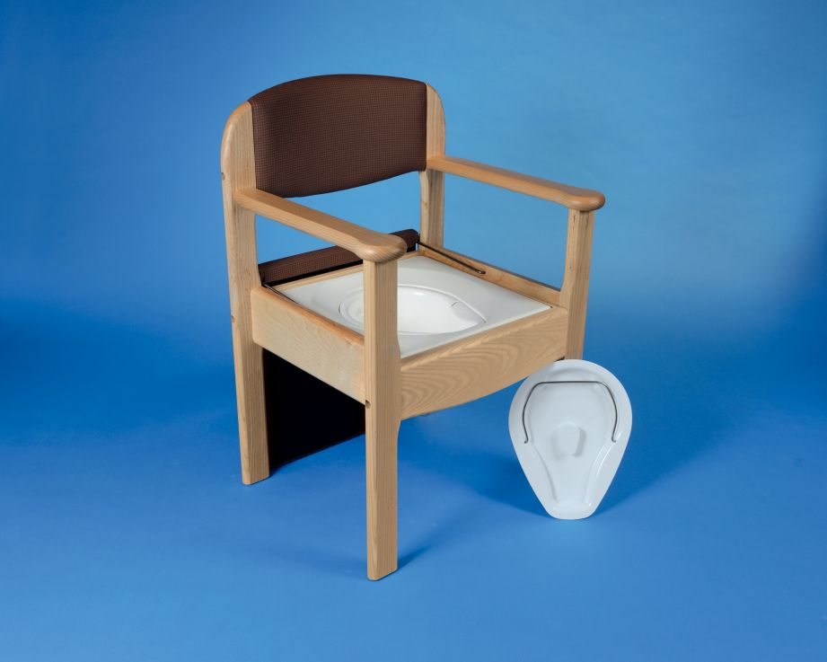Commode Chair Royale Wooden The Mobility Centre